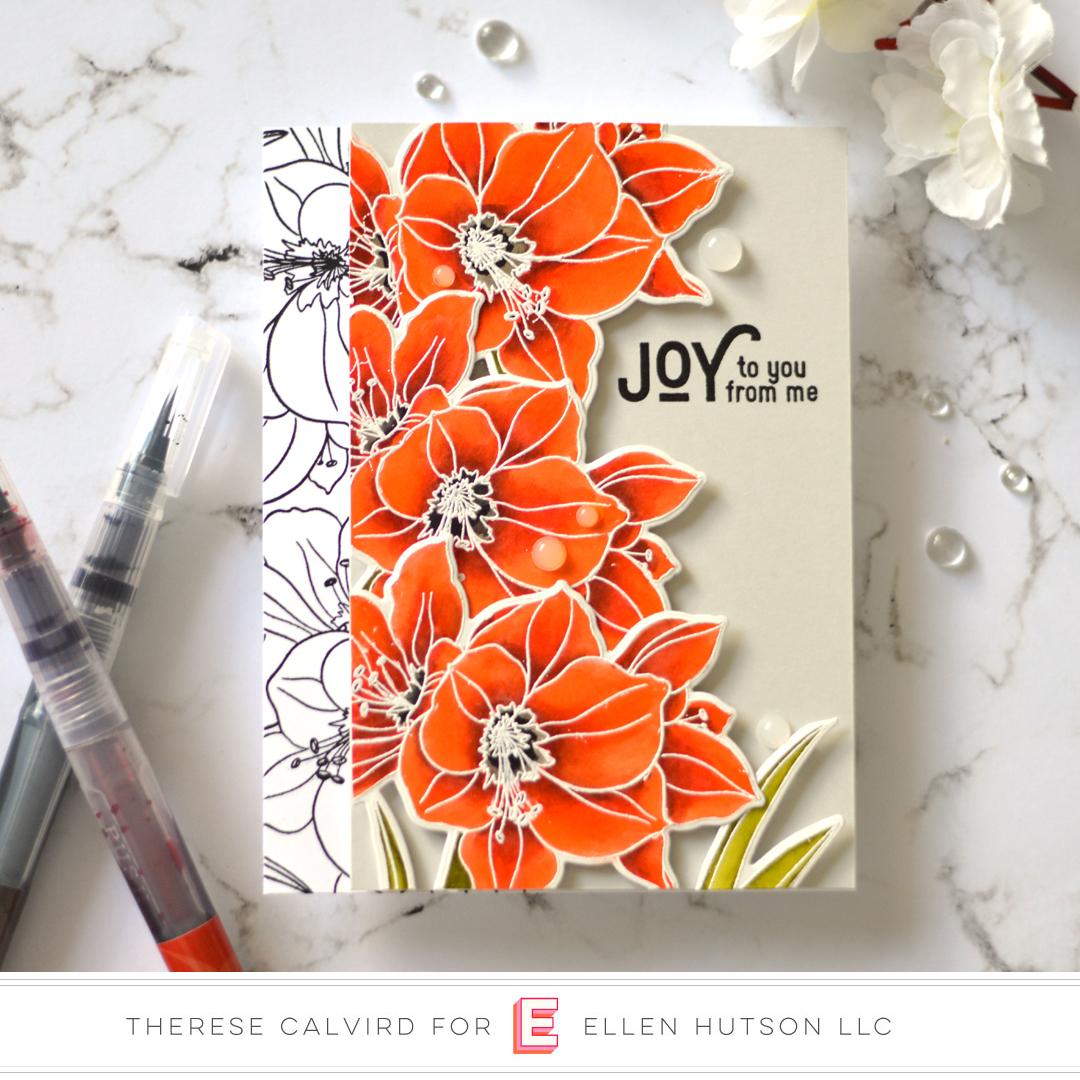 2 Holiday Card Ideas With The Essentials By Ellen Mondo Amaryllis