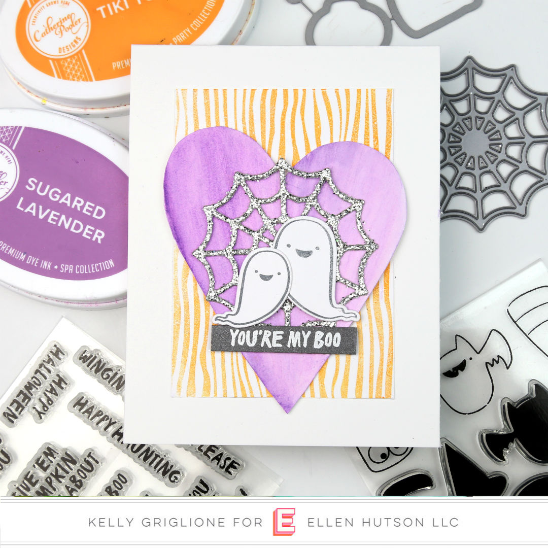 Happy Haunting card by Kelly Griglione