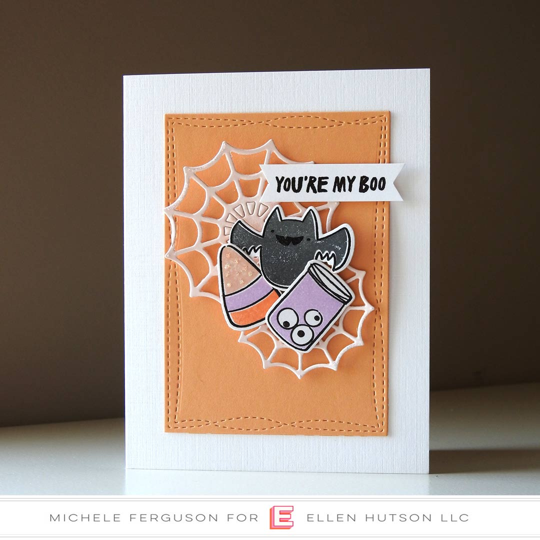Happy Haunting card by Michele Ferguson