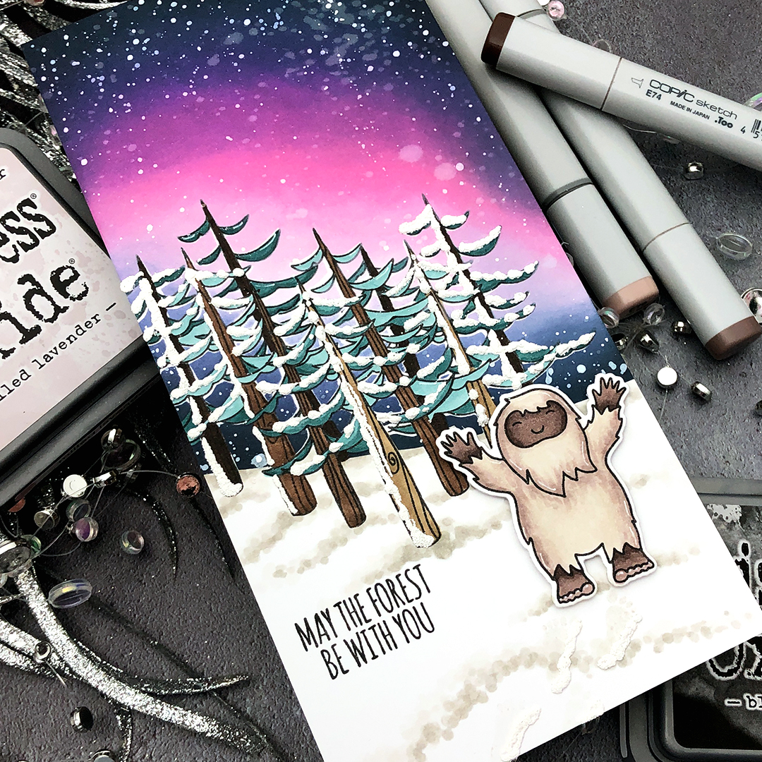 How To Create A Northern Lights Card