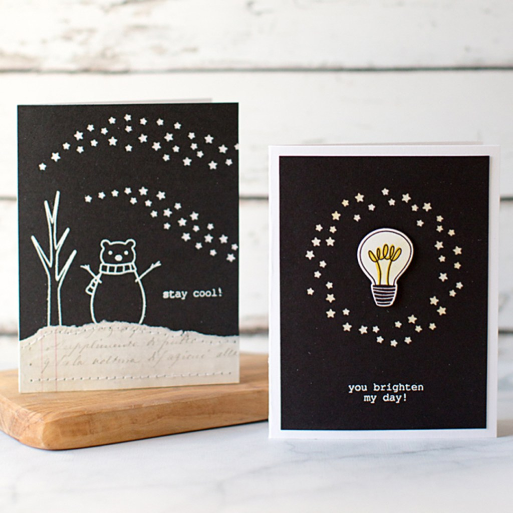 9 Card Ideas Using Black Cardstock