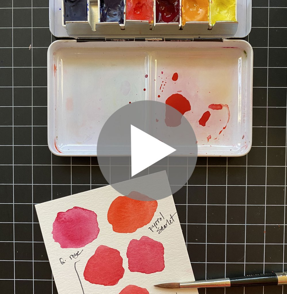 Watercolor Tips: Warm vs. Cool Reds