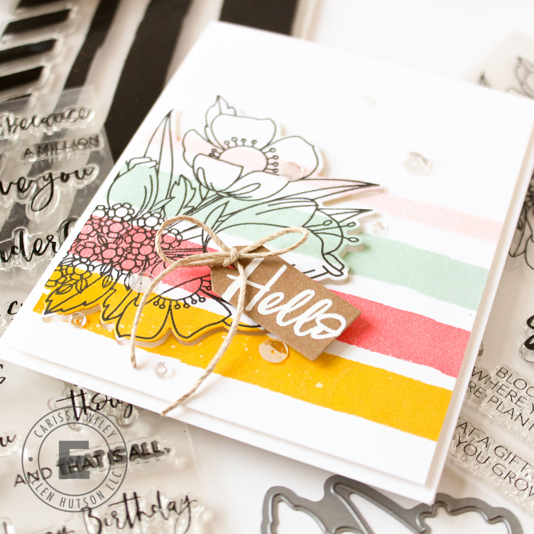 How To Create DIY Striped Patterned Paper With Essentials by Ellen