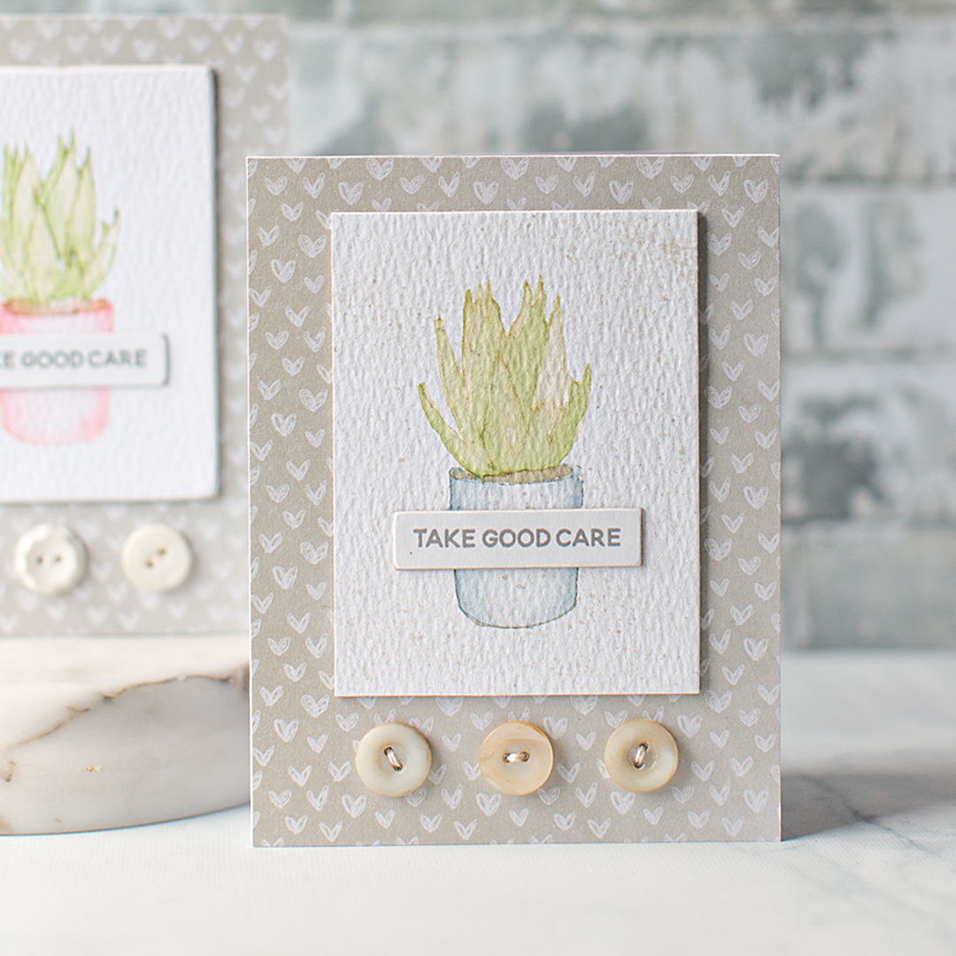 Clean & Simple Modern Succulent Cards