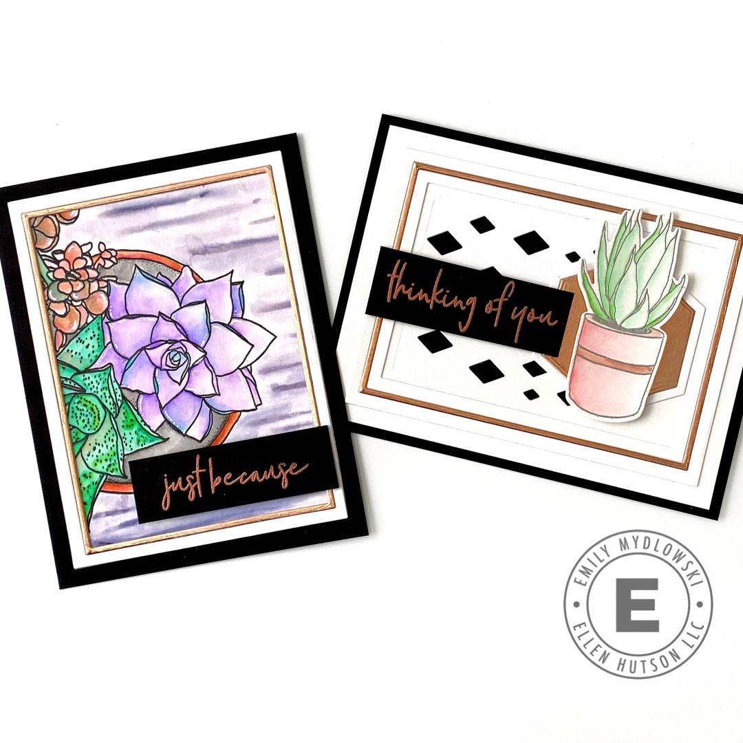 How To Add Metallic Accents To Your Stamped Cards
