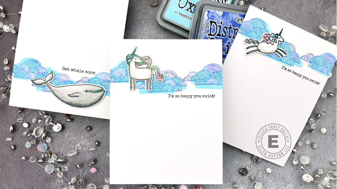 Using Both Sides of Your Stamps by Jessica Frost-Ballas for Ellen Hutson