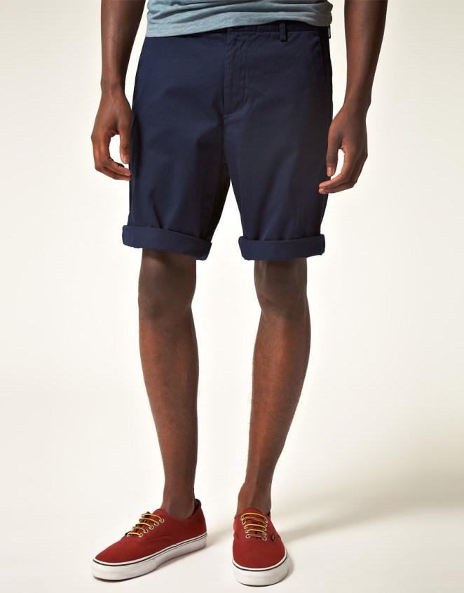 3. Zapatillas sin punteras para unas bermudas de gabardina.