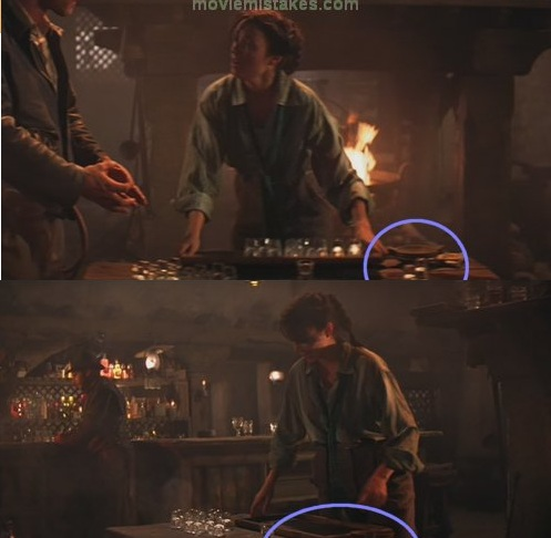 10. Indiana Jones el arca perdida, los shots desaparecen de una escena a otra