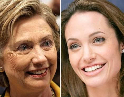14. La esposa de Brad también tiene parientes en la política estadounidense: Angelina Jolie es prima de Hillary Clinton por una novena generación.