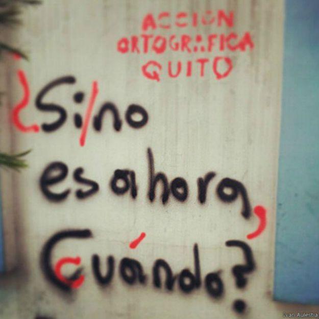 La acción ecuatoriana inspiró a los grupos de Madrid. Ellos dicen que otra fuente de inspiración fueron los grupos de