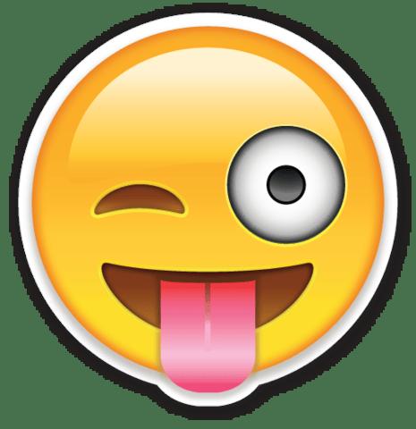 4. Insultar con cautela usando una carita que saque la lengua o feliz. No es lo mismo