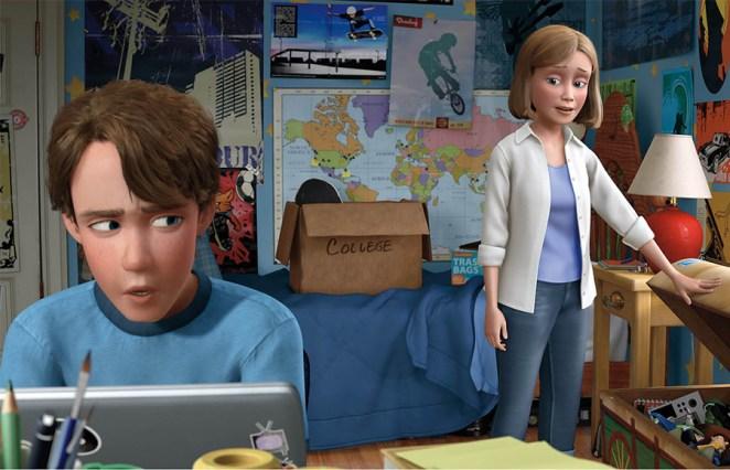 Durante las películas, la mamá de Andy es más bien un enigma: En la primera parte, apenas vemos su cara