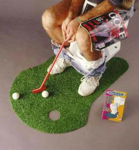 10. Juga al golf desde el baño!