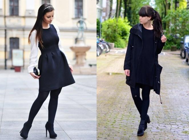 El vestido negro nunca se guarda en los cambios de temporadas, con medias te sirve para el invierno