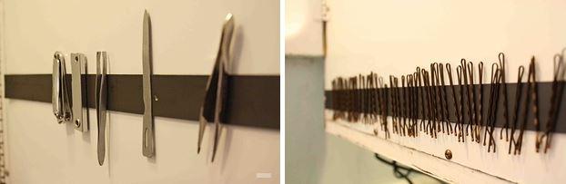 5. Dejá de perder tus invisibles: pegá un imán en la puerta del botiquín del baño (o donde quieras) y listo.