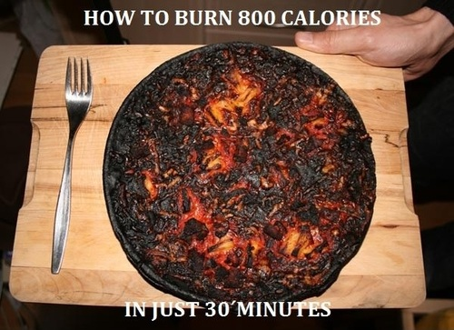 10. Y cocinar es una misión imposible, porque siempre te olvidás de sacar a tiempo lo que pusiste en el horno