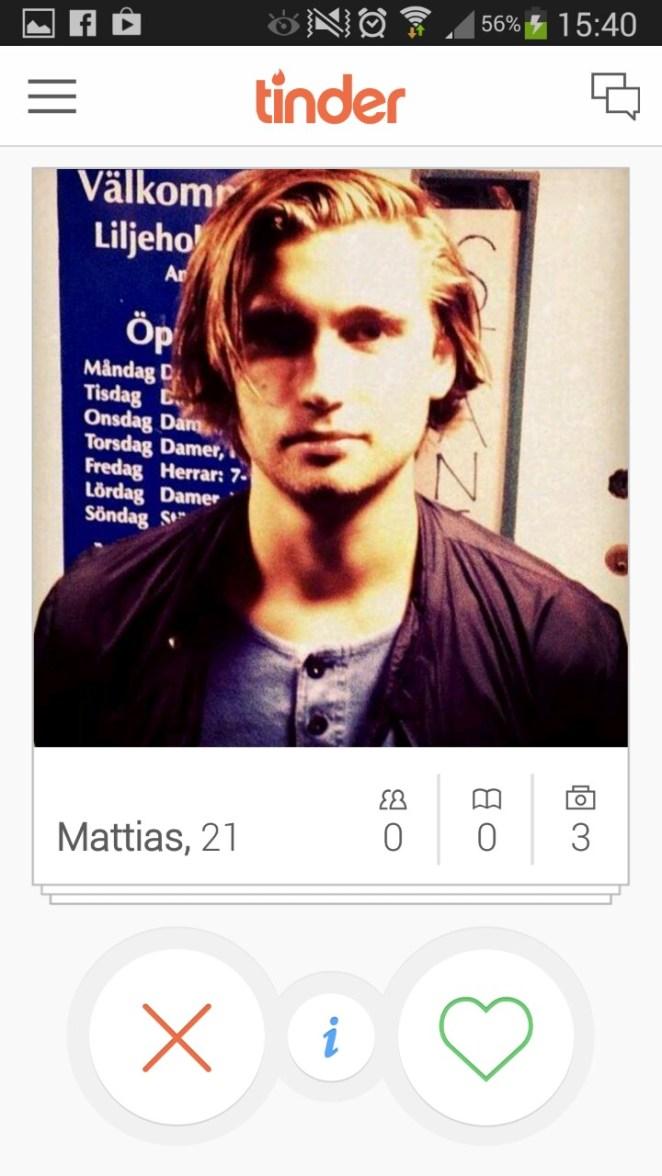 6. Mattias, 21.