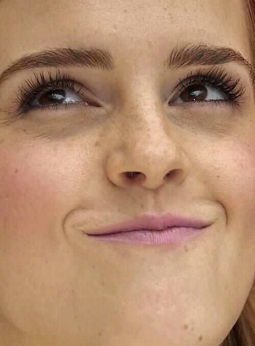31. Emma Watson, de nuevo. Hermosa siempre, aún de cerca.