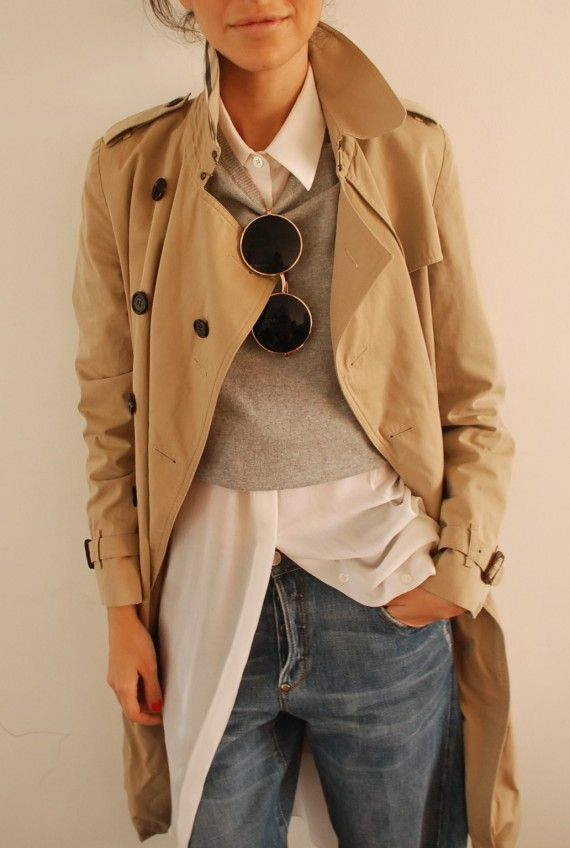13. Camisa + Sweater + Trend = el estilo cebolla para no pasar ni frío ni calor.