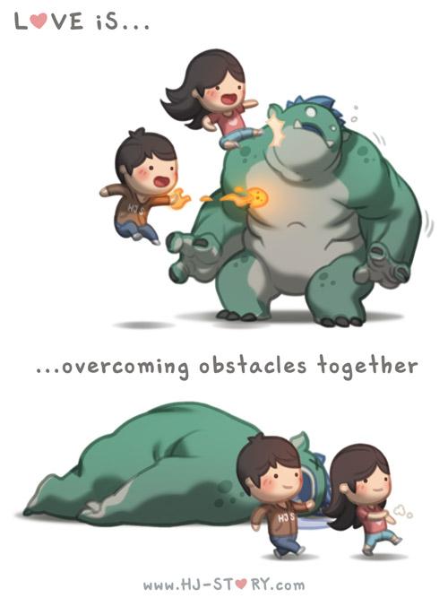 1. El amor es... vencer obstáculos juntos.