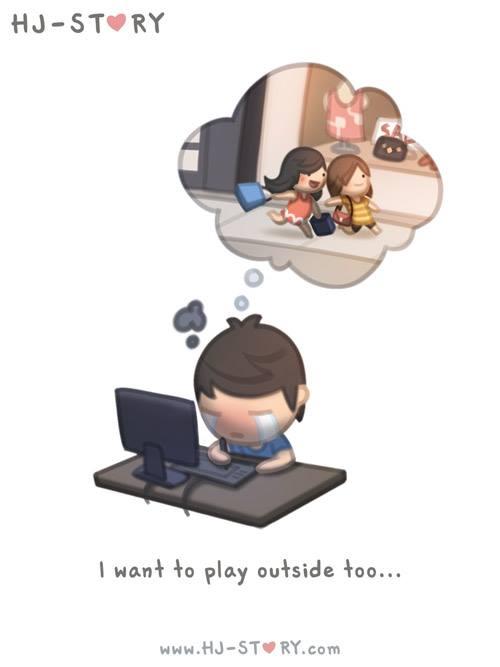 8. Yo quiero salir también