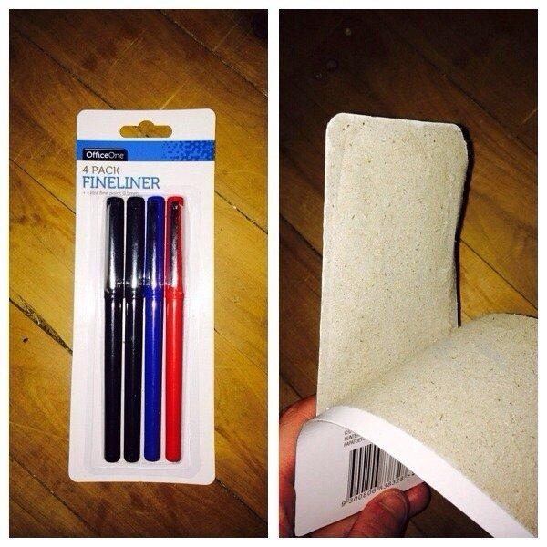 1. Cuando te pasa esto y tenes que romper el cartón con una tijera.