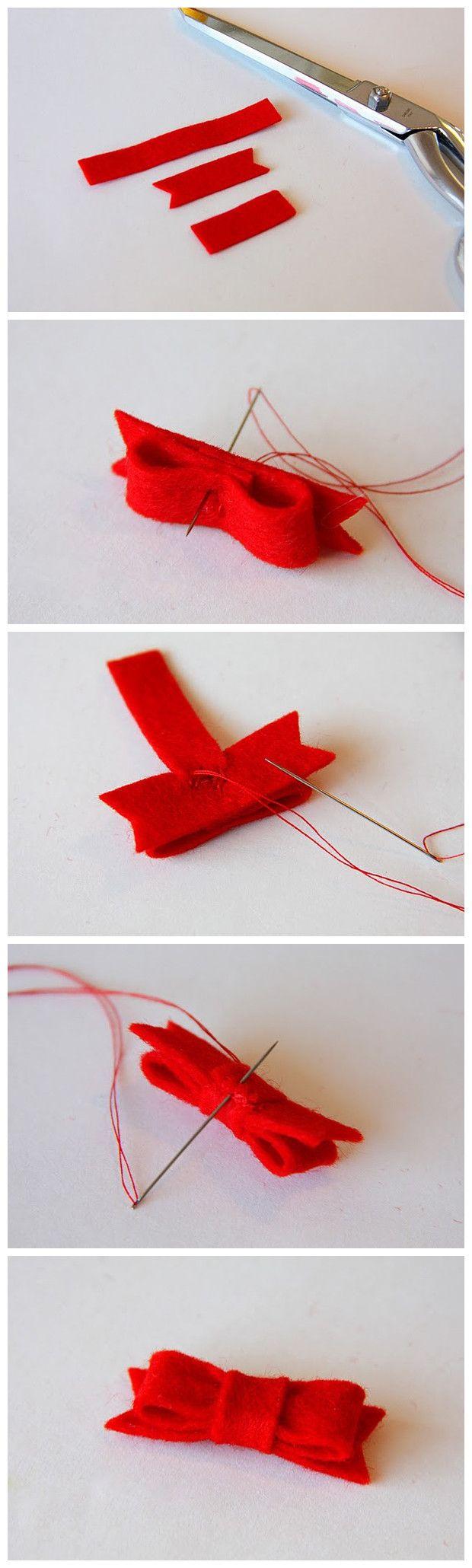 10. Cómo hacer moños de tela