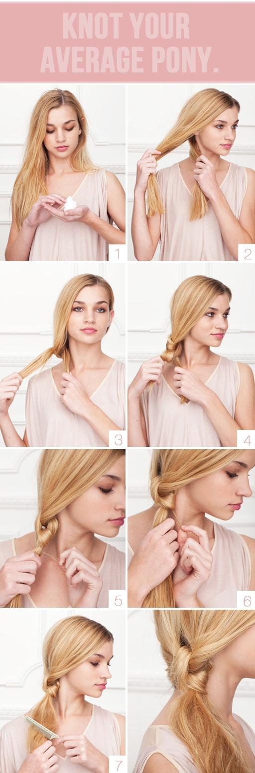 3. Colita de pelo con nudo