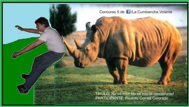 Homero atacado por un rinoceronte