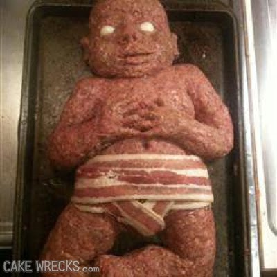 Clásica torta-momia de carne picada