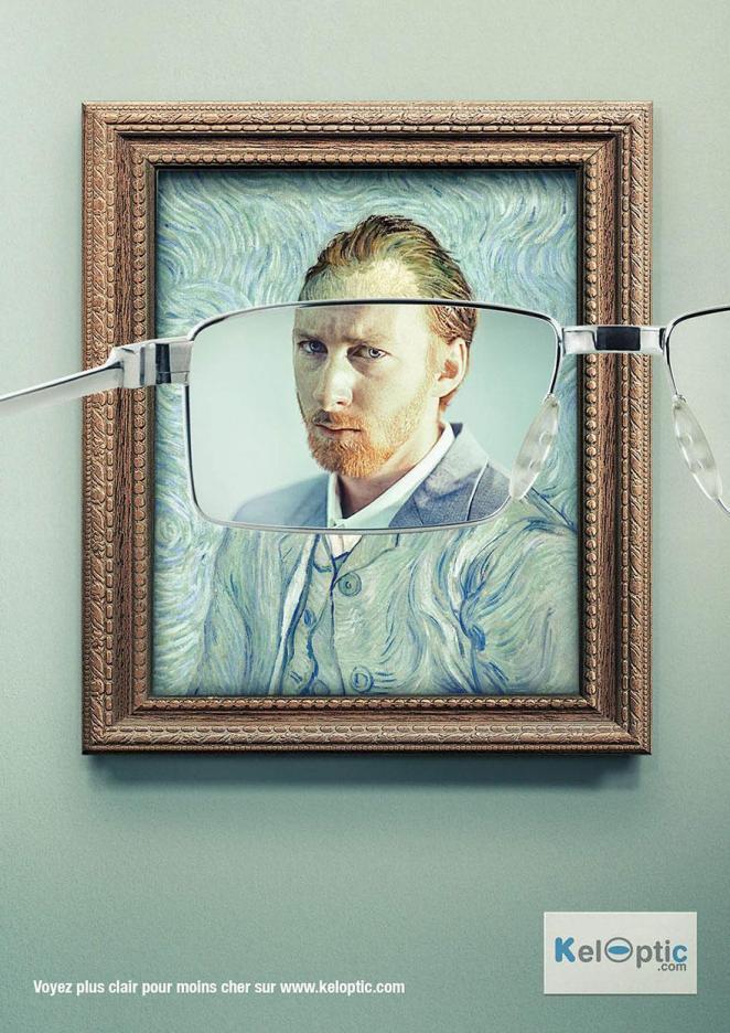 4. Con y sin lentes, anuncio para KelOptic