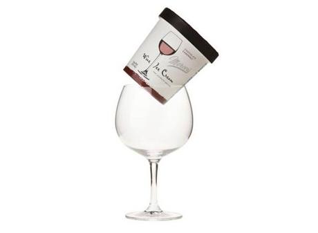 9. Helado con gusto a vino.