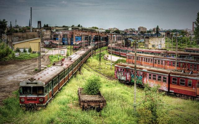 5. Estación de trenes en Polonia