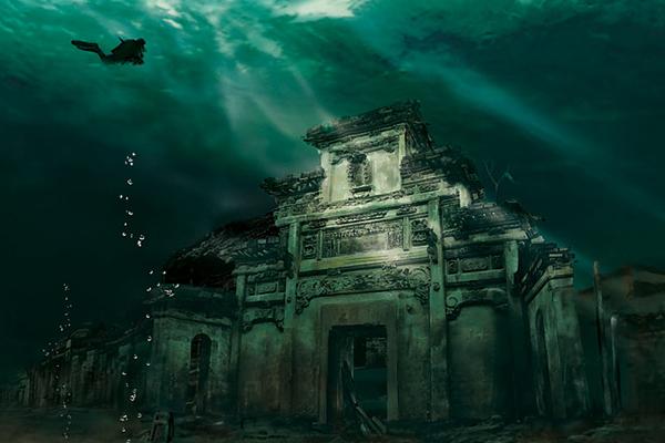 14. Una ciudad china fundada hace 1,300 años sumergida bajo el agua desde hace más de 50 años