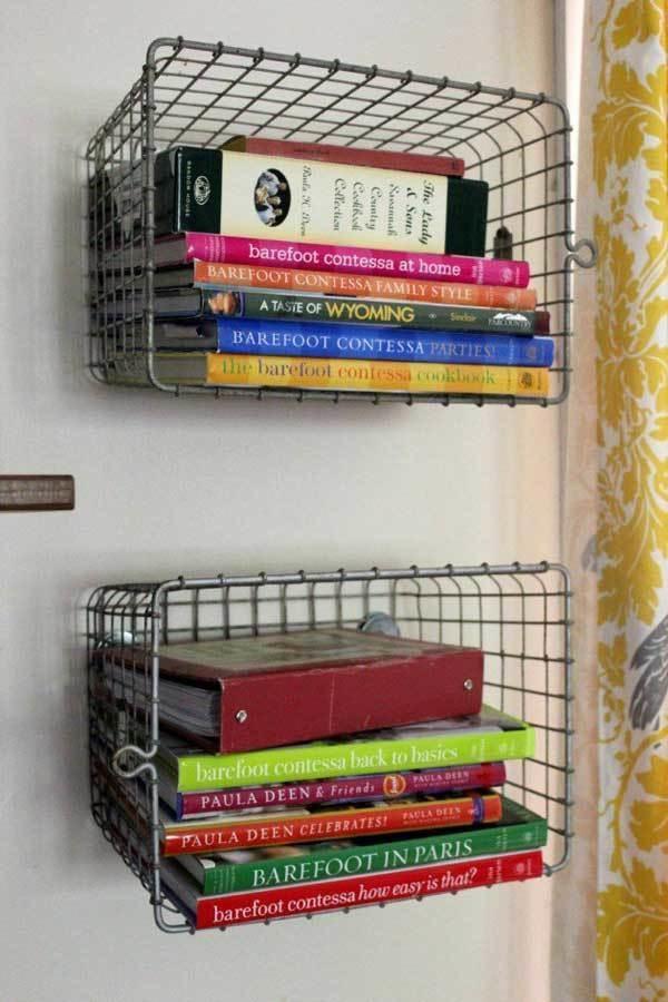 22. Improvisá canastas como bibliotecas.
