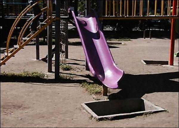 17. Cuando el nene se pone molesto, lo llevás a esta plaza y no lo ves más.