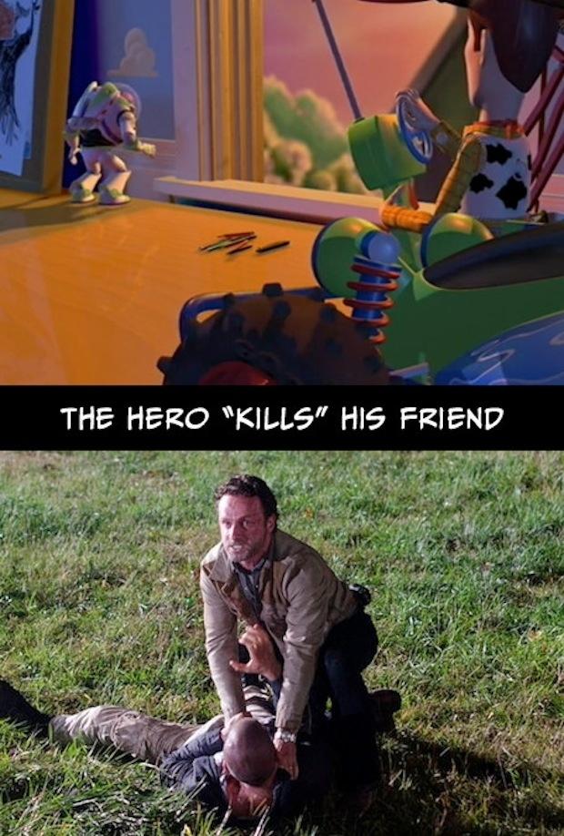 8. El héroe mata a su mejor amigo.