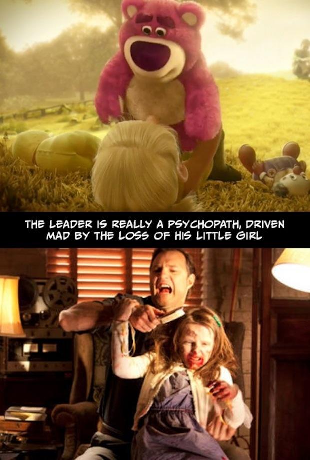 18. El líder es en realidad un psicópata, que perdió la cabeza al perder a su niña...