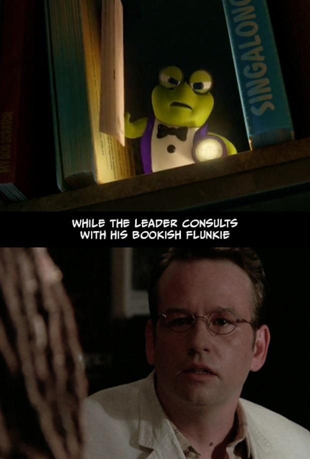 23. Mientras el líder consulta con un adicto a los libros.