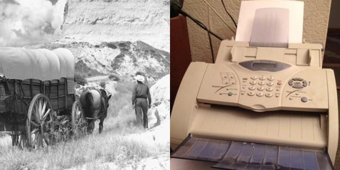 9. El fax fue inventado el mismo año que la gente emigraba hacia Oregon.