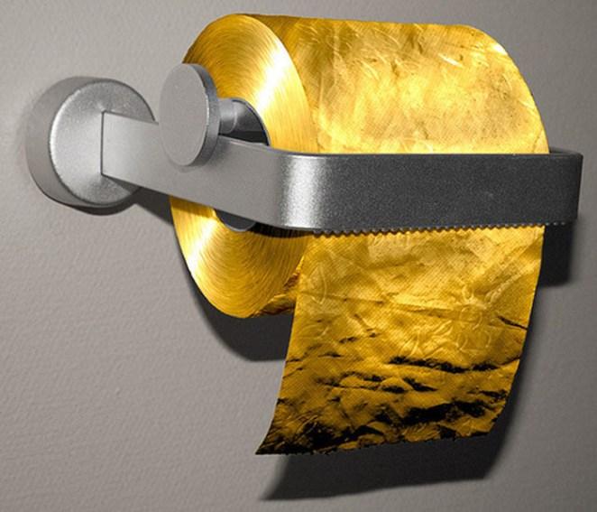 4. Papel higiénico de oro
