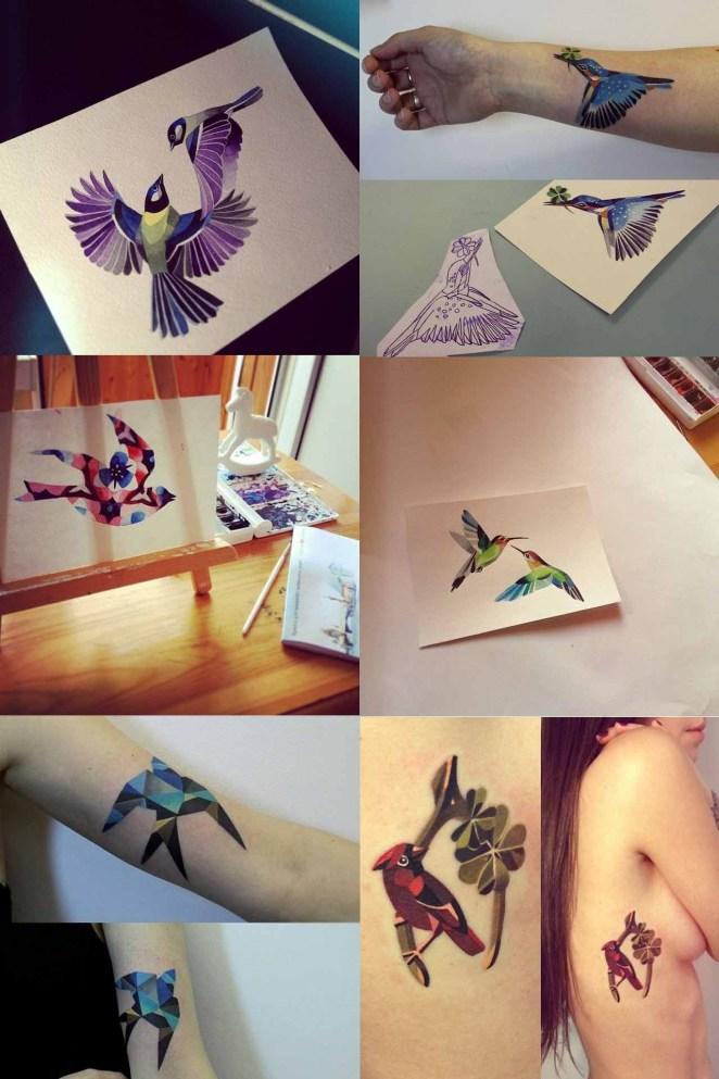 tatuajes de pájaros,