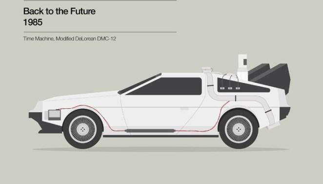 5. Volver al futuro (1985) Claramente el auto es un Delorean DMC -12 modificado.