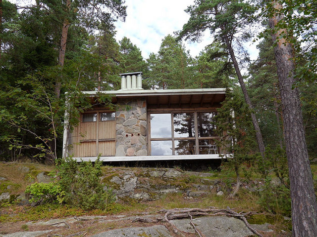 6. Mucho antes de que las casas pequeñas se vuelvan furor, el arquitecto Ralph Erskine construyó su propia mini casa en 1940