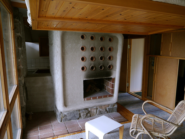 La chimenea tiene un diseño más que peculiar
