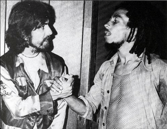 7. George Harrison y Bob Marley, Los Angeles, 1975