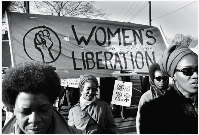 Women march in support of the Black Panther Party in New Haven, Connecticut, in November 1969.