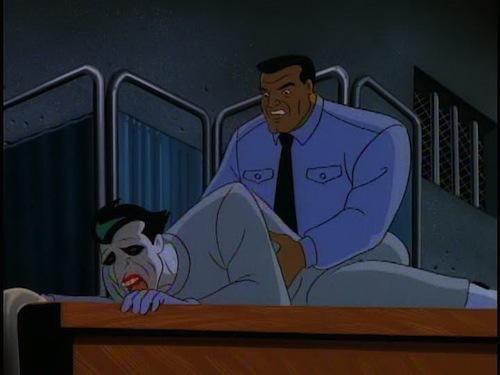 5. Haciéndole el apoyo emocional al Joker.