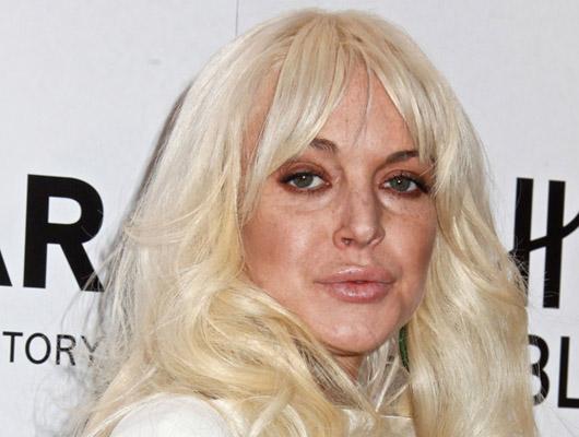 Lindsay después de un par de copas y algo más