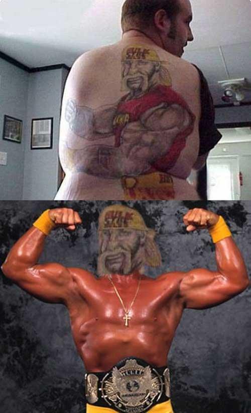 Hulk Hogan se revuelca en su cuadrilátero